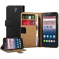 Membrane Alcatel One Touch Pop Star 5022D Custodia Portafoglio Nero PU Pelle Libro Flip Wallet Protettivo Case Cover