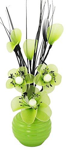 Grün Künstliche Blumen Mit Lindgrün Vase, Deko, Wohnaccessoires & Deko Geeignet für Bad, Schlafzimmer Oder Küche Fenster / Regal, 32cm