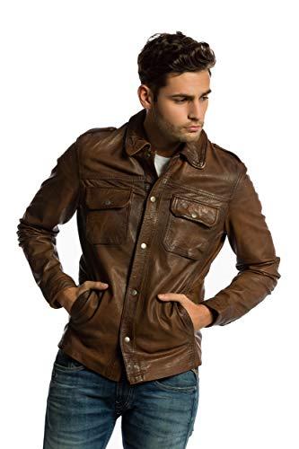 Urban Leather Herren Jacke Luka, Braun (Ontorio Brown 003), X-Large (Herstellergröße: XL)