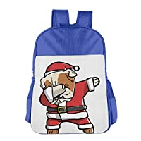 Dabbing English Bulldog Ugly Christmas School Backpack Children Shoulder Daypack Kid Lunch Tote Bags Pink