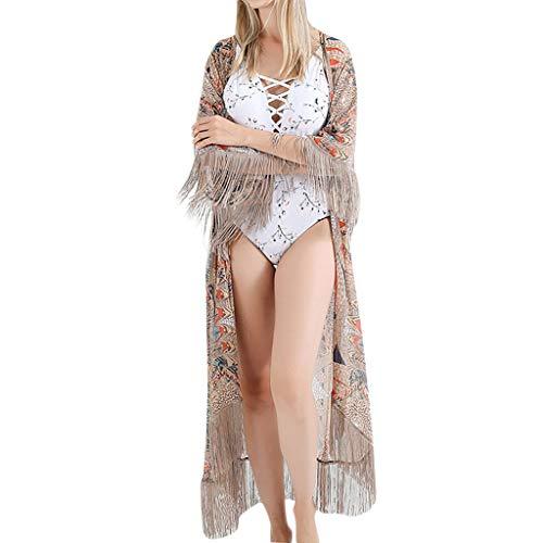 CICIYONER Frauen Badeanzug Cover Up Bikini Badeanzüge Bademode häkeln Kleid
