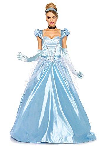 Leg Avenue 85518 - 3Tl. Classic Cinderella Kostüm, Größe Large (EUR 40) Damen Karneval Kostüm Fasching (Cinderella Kostüm Erwachsene)