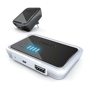 Philips SCE4430/05 Chargeur autonome avec batterie Power2Go jusqu'à 5V Chargeur USB inclus (Import Royaume Uni)