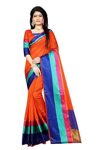 Sarees(Finix Fashion Women's Clothing Saree For Women Latest New Design Wear Sarees Fashion New Collection in Orange Rainbow Color Polly Silk Chanderi Material Latest Fashion Saree With Designer Blouse Free Size Beautiful Bollywood Fashion Style Saree For Women Party Wear Offer Designer Sarees With Blouse Piece)  available at amazon for Rs.499