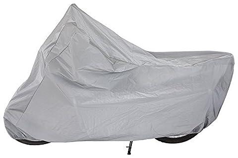 Housse de protection pour moto, scooter | Couverture imperméable | Couvre-moto gris transpirant, protège de la pluie, soleil, poussière | Taille M et