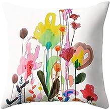 Funda con diseño floral, de Dragonaur, cojín para cama, sofá o decoración del