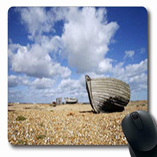 Luancrop Alfombrillas para Mascotas Deterioro Dungeness Kent March Abandonado Patrimonio Pesca Parques Al Aire Libre Abandonado Oblong Gaming Mouse Pad Antideslizante Estera de Goma