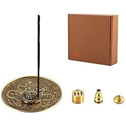 medoosky Stick quemador de incienso y cono de incienso soporte, set de regalo