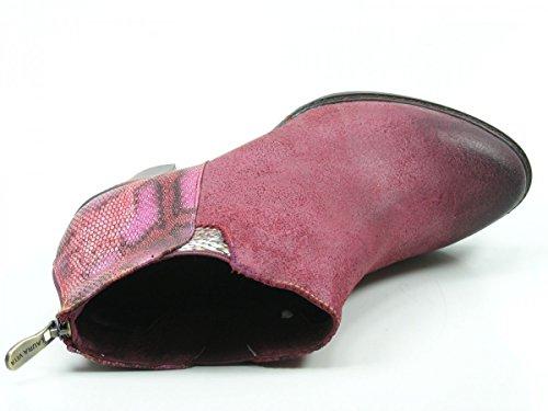 Laura Vita SL2131-33 Agathe 33 Schuhe Damen Stiefeletten Ankle Boots Rot