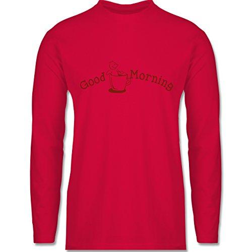 Küche - Good Morning - Longsleeve / langärmeliges T-Shirt für Herren Rot