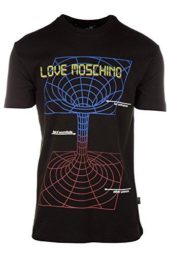 Love Moschino t-shirt maglia maniche corte girocollo uomo nero EU M (UK 38) M 4 733 03 M 3671 C7