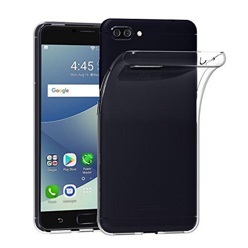 iVoler Hülle für Asus Zenfone 4 Max ZC554KL / Zenfone 4 Max Plus ZC554KL / Zenfone 4 Max Pro ZC554KL 5.5 Zoll, Transparent Klare Tasche Schutzhülle Weiche TPU Silikon Gel Handyhülle Schmaler Cover