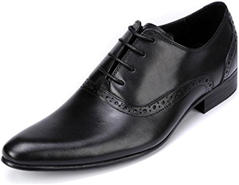 Zapatos De Oxford Negocios Zapatos De Cuero para Hombres Apuntado Zapatos con Cordones Low-Top Zapatos De Tendencia... -