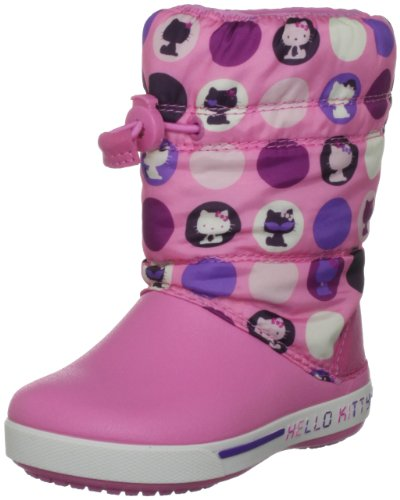 Crocs Kids - CROCBAND GUST BOOT HELLO KITTY COLORFUL CIRCLES - mulberry fuchsia