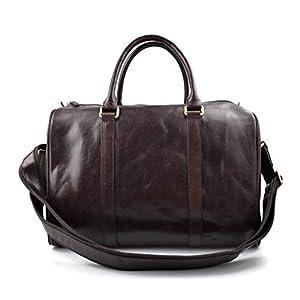 Leder reisetasche dunkel braun kleine tasche leder sporttasche reisetasche leder schultertasche herren damen umhängetasche made in Italy