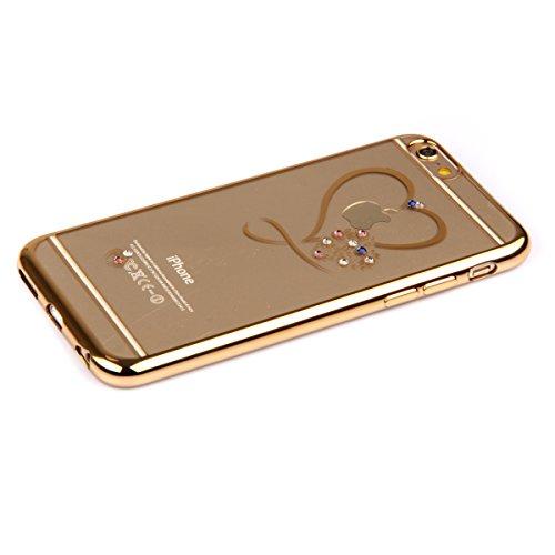 iPhone 6S Plus Hülle, iPhone 6 Plus Hülle, iPhone 6S Plus Silikon Hülle Rose Gold Tasche Handyhülle [Kratzfeste, Scratch-Resistant], iPhone 6 Plus TPU Gel Bumper Case Weiches Transparent Silikon Schut Liebe