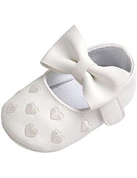 Brightup Baby Mädchen Prewalker Sweet Love Herz Bowknot Anti-Rutsch Soft Sole Leder Schuhe