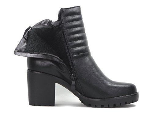 Damen Stiefelette - Biker Boots H372 Schwarz