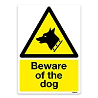 Beware of the dog Sign, Self-adhesive Vinyl Sticker, Warning Safety Door, Window Signs