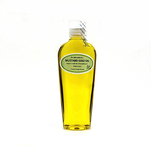 Mustard Seed Oil Pure Organic For Skin Care and Hair 8 Oz