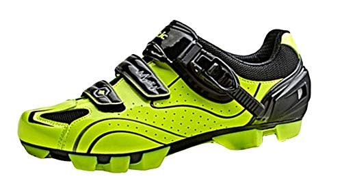 Insun Uomo Scarpe da Ciclismo Traspirante Bicicletta Ciclismo Scarpe per MTB Giallo Fluorescente 44 EU