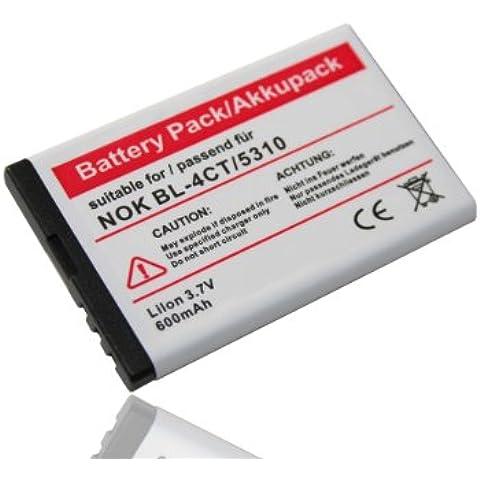 Batería Li-Ion 600mAh 3,7V compatible con Nokia XpressMusic 5310 5630, Supernova 7210 7310 7230, Fold 2720 6600, Nokia X3.Sustituye la batería
