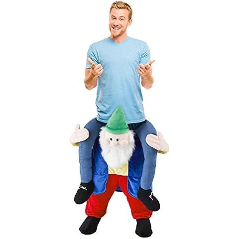 The Natale Officina 87020Carry Me Ride da elfo per adulti, Ultimate Festa Di Natale Costume Taglia unica