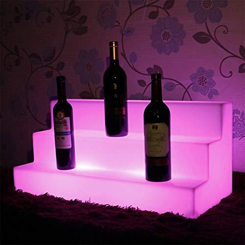 des Weinregal Led Buntes Licht Weinregal Wine Cup Holder Cocktailständer Geeignet LED Glow Für Den Nachtmarkt Zu Hause Geschäft Im Freien ()