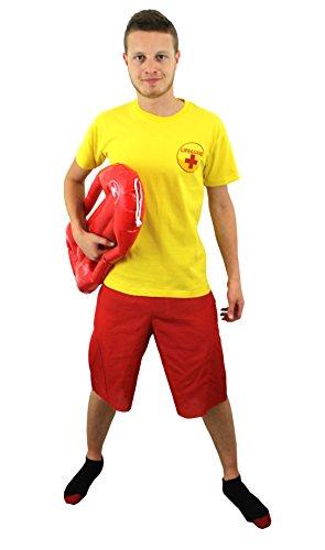 Lifeguard T-shirt + Rot Lifeguard Float Funny Fancy Kleid T Shirt Herren Damen Unisex Beach Guard Saver rot gelb TOP Hirsch Nacht Sommer Kostüm Gelb gelb M - Hirsch Herren T-shirt