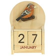 Chaffinch Perpetual Calendar : Handcrafted Wood : Size 10.5x7x3.5cm : Top Gift Idea : Traditional Present For Children, Kids, Boys, Girls, Him, Her & Fun Loving Adults! : 50+ Garden Bird, Animal & Transport Designs