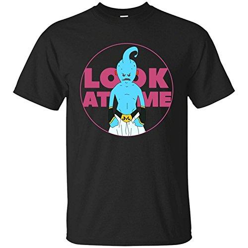 JUNQUANFU Mujer Look at Me Meeseek Majin Buu Rick Camiseta/T Shirt