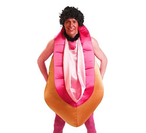 Vagina Kostüm - EL REY DEL CARNAVAL, SL Muschi-Kostüm für Erwachsene Einheitsgröße