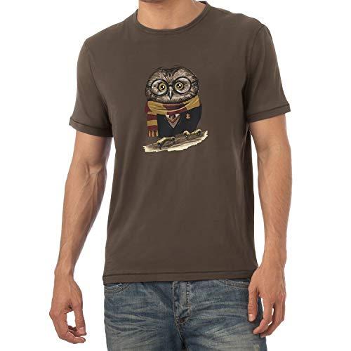 Texlab Harry Owl - Herren T-Shirt, Größe M, braun