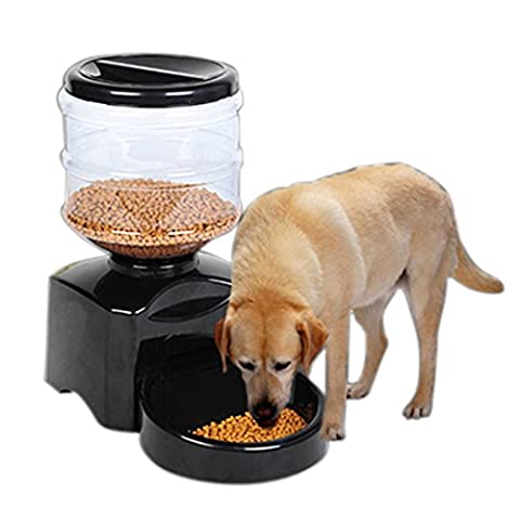 Rechel Automatic Pet Feeder,Programmable Timer Station Dispenser Container, for Dog and Cat with Electronic Portion Control and Voice recording, 5.5L Capacity