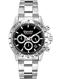 Gigandet Race King – Reloj analógico de Cuarzo con Correa de Acero Inoxidable Esfera Negra con
