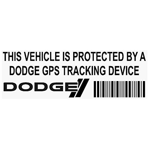 5x ppdodgegpsblk GPS-Tracking Gerät Sicherheit Fenster Aufkleber 87x 30mm-car, Van Alarm Tracker (Dodge-ladegerät-aufkleber)
