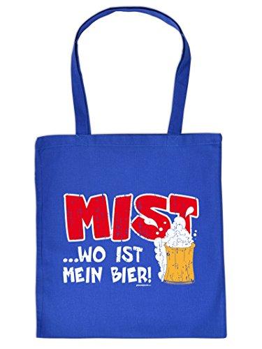 Sackerl ::: Mist ... wo ist mein Bier! ::: Fun-Tasche für Getränke Er Ist Mein Meister
