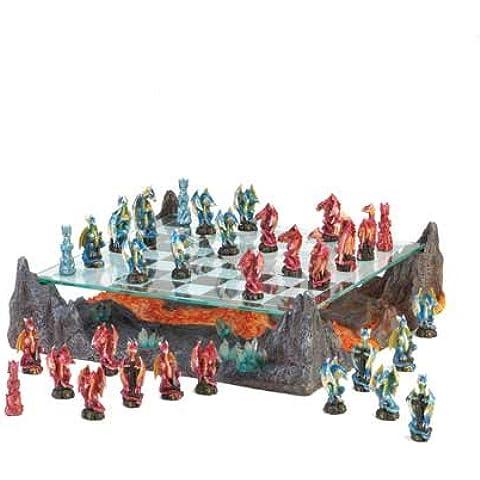 Home locomoción 10015191Fire Río dragón Juego de ajedrez