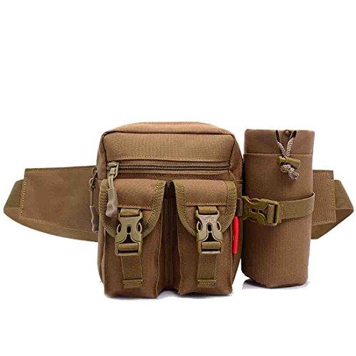 TOYIS Tactical Taille Tasche, wasserdicht Military Taille Gürtel Utility Wasser Flasche Fanny Pack bumbags für Trekking Wandern Radfahren Klettern (Fanny-packs Wasser-flaschen)