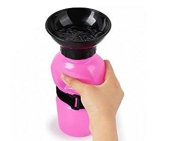 MARCHY Auto Dog Mug Voyage Portable Dog Water Bottle Aqua Dog Mug - La façon intelligente de garder votre chien hydraté en déplacement (Rose)
