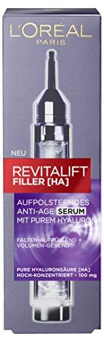 L'Oréal Paris Revitalift Filler [HA] Aufpolsterndes Anti-Age Serum, füllt Falten auf, für eine sichtbar prallere Haut, mit hochkonzentrierter Hyaluronsäure, 16 ml