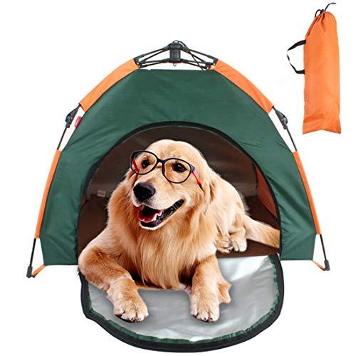 Gupiar Tragbares Falten Hundezelt Wasserdichtes Bett Pet Haustier Zelt für Katzen Hunde mit Hundematte Outdoor Campingzelt Sonnenschutz