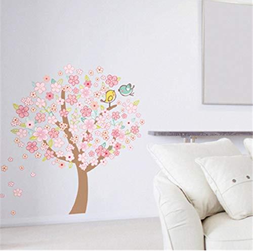 Romantische Rose Peach (Wandtattoos Happy Peach Tree Home Wohnzimmer Dekorative Romantische Schlafzimmer Abnehmbare Schlafzimmer Rose Abnehmbare Aufkleber)