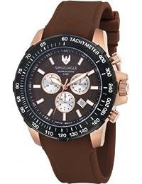 Swiss Eagle Reloj de cuarzo Herzog Marrón 45  mm