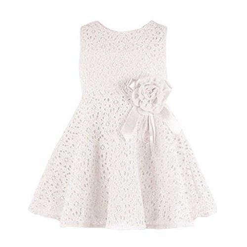 Mädchenkleid Festzug Kleider (2-3 Jahre, white) (Santa Dress Up)