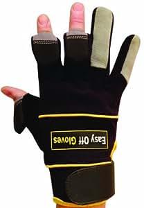 Gants Off facile - comme vu dans le Daily Mirror et The Sun! Spécialiste rétractable Finger Tip Sécurité Gants Vêtements de travail EPI - Bâtiment - Électricien, plombier, charpentier, jardinage, vélo, paintball, pêche, photographe, industries du sport-Taille 9
