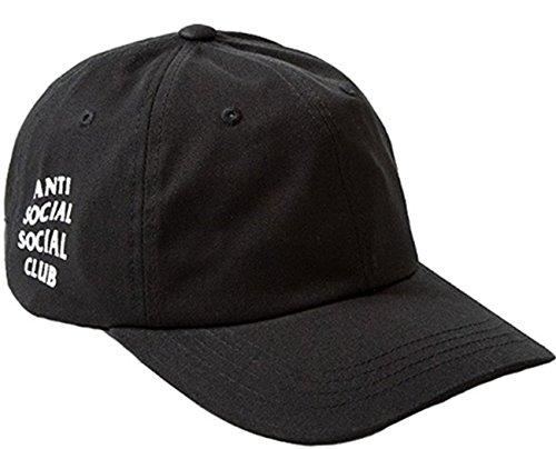 Preisvergleich Produktbild Stayeal Klassiche Schwarz Kappe Baseballkappe anti social social club Sportkappe Sporthut