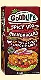 GOODLIFE Hamburguesa de frijoles picantes con salsa de chile Chipotle 454g (2)