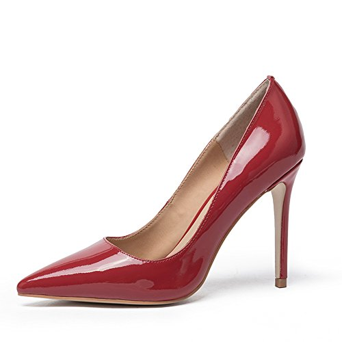 581cad62c851e Darco Gianni Womens Court Shoes High Heel Ladies Office Formal Pump Patent Leather  Sexy Pointed Toe