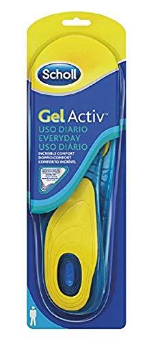 Scholl solette scarpe quotidiane gel activ everyday per uomo, 40-46.5 eu, 1 paio